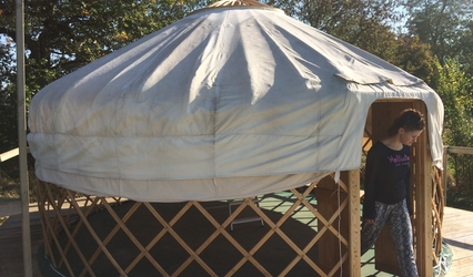 Taking down Swallow yurt