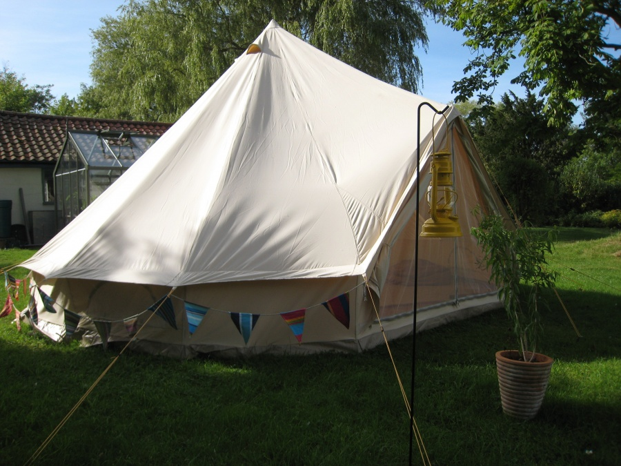 Getting ready for Bell Tent