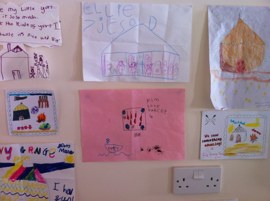 Art works from some of our young guests