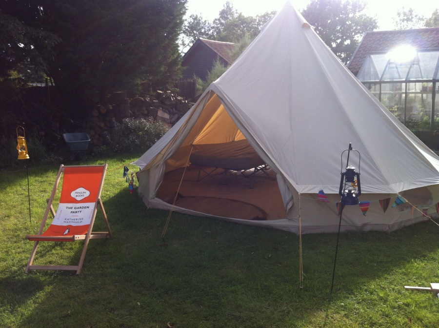 Our new Bell Tent on trial in the garden...