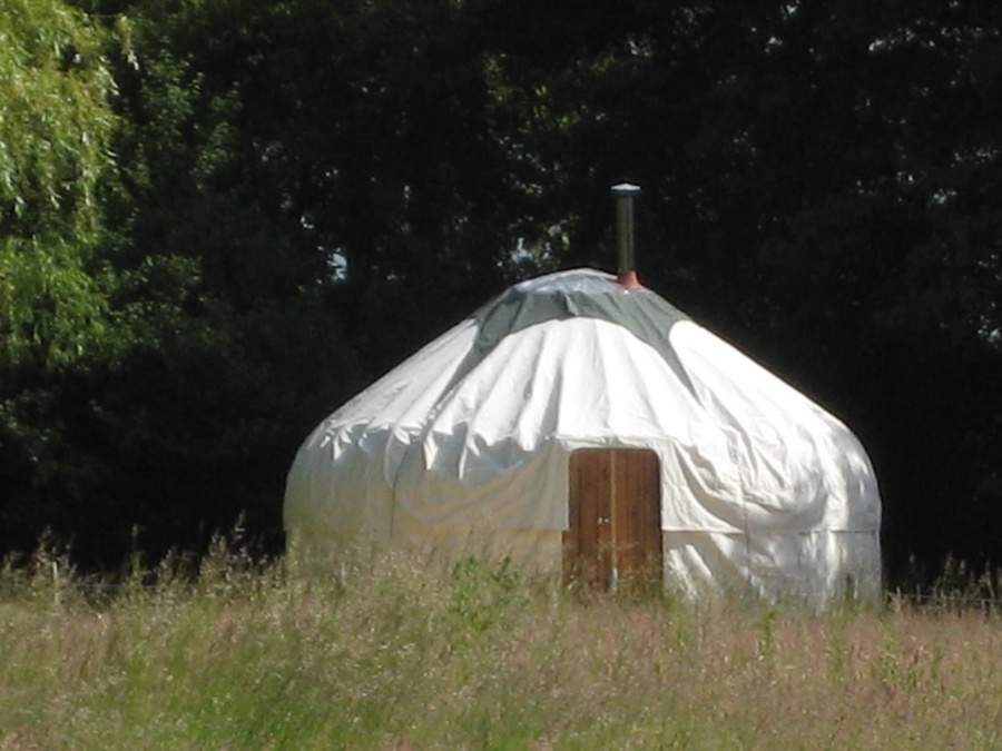 The yurt is up!
